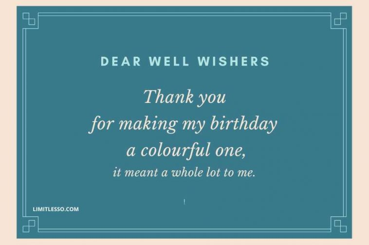 2021 Best Thank You Birthday Messages To Family And Friends Limitlesso