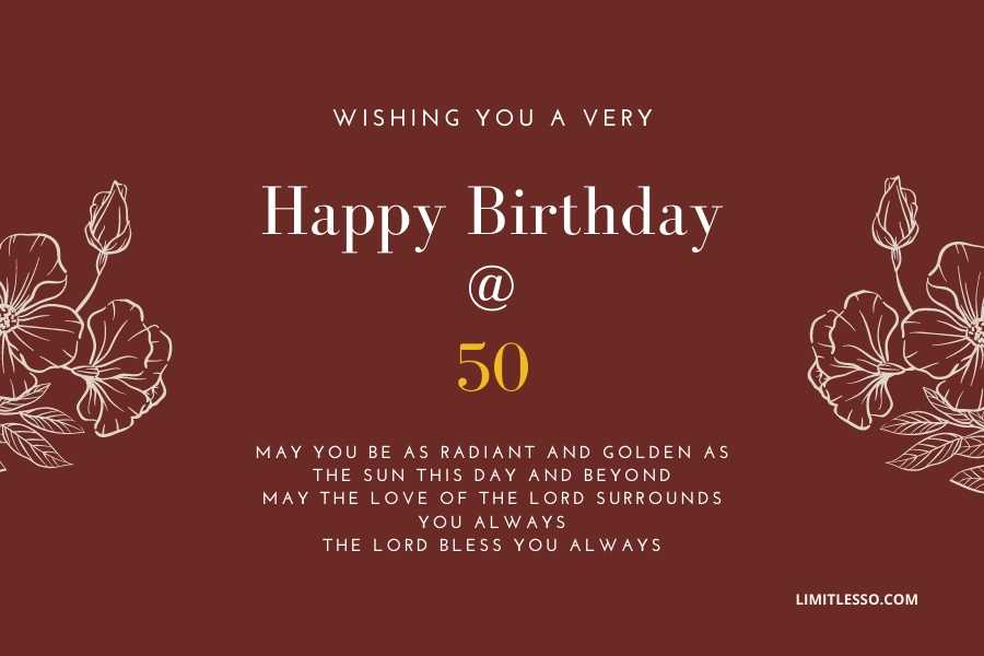 50th Birthday Wishes And Messages Golden Jubilee Wishes For 2020 Limitlesso